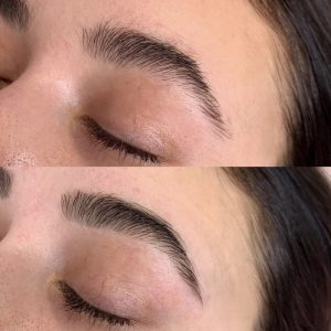 eyebrow shape and tint derby