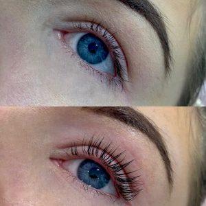 eyelash lift & tint lvl
